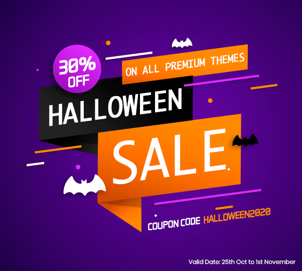 Haloween 2020 Offer - 8DegreeThemes