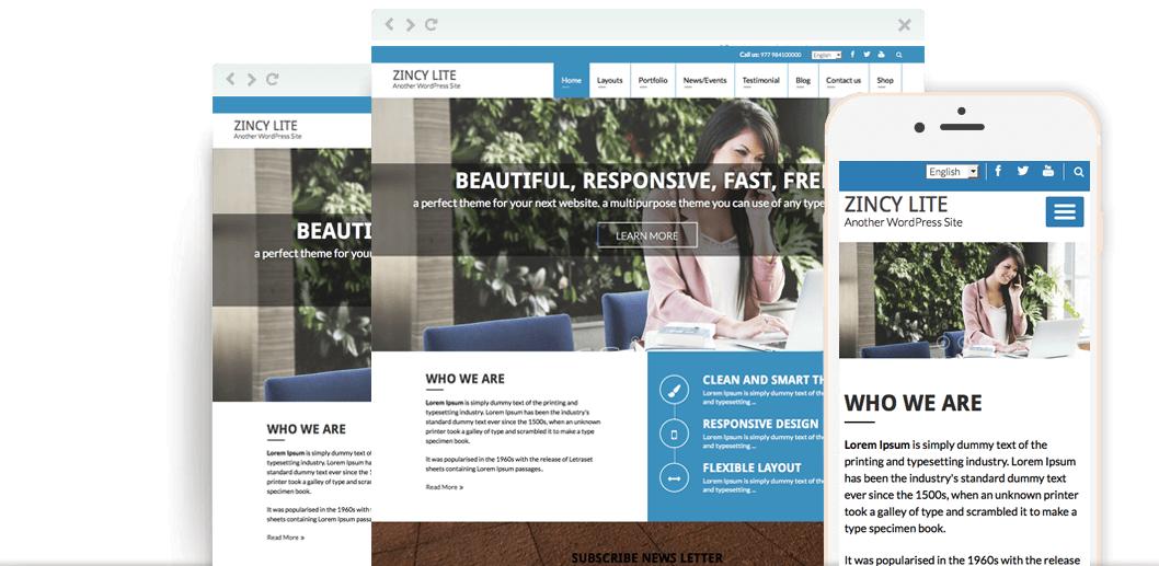 Zincy Lite – Free Multipurpose WordPress Theme