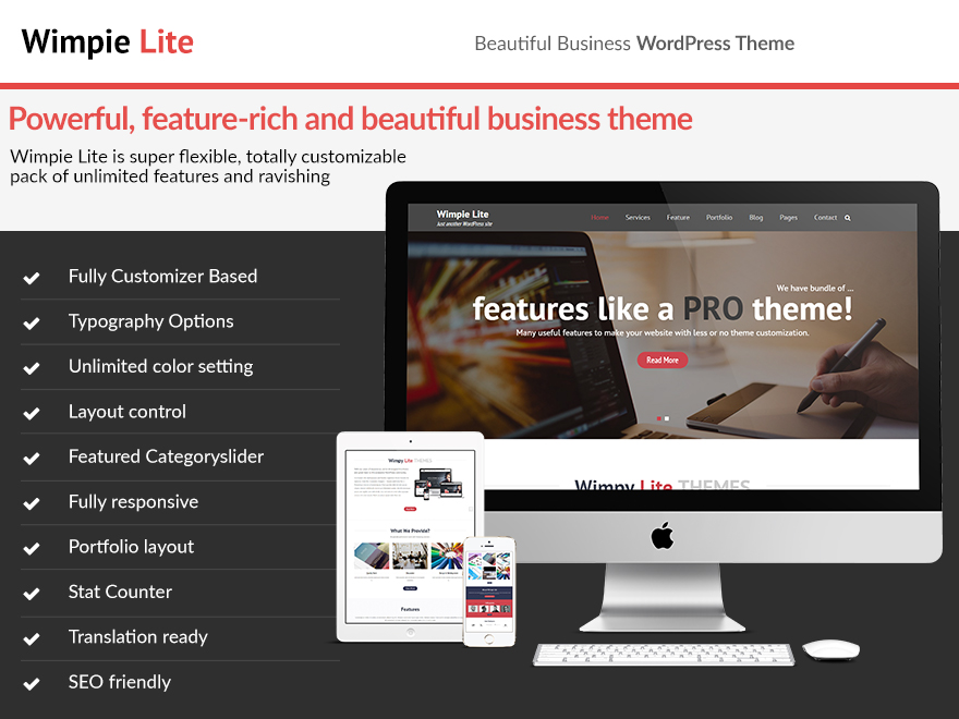 Need Simple Theme With Professional Features? - Wimpie Lite is Ready