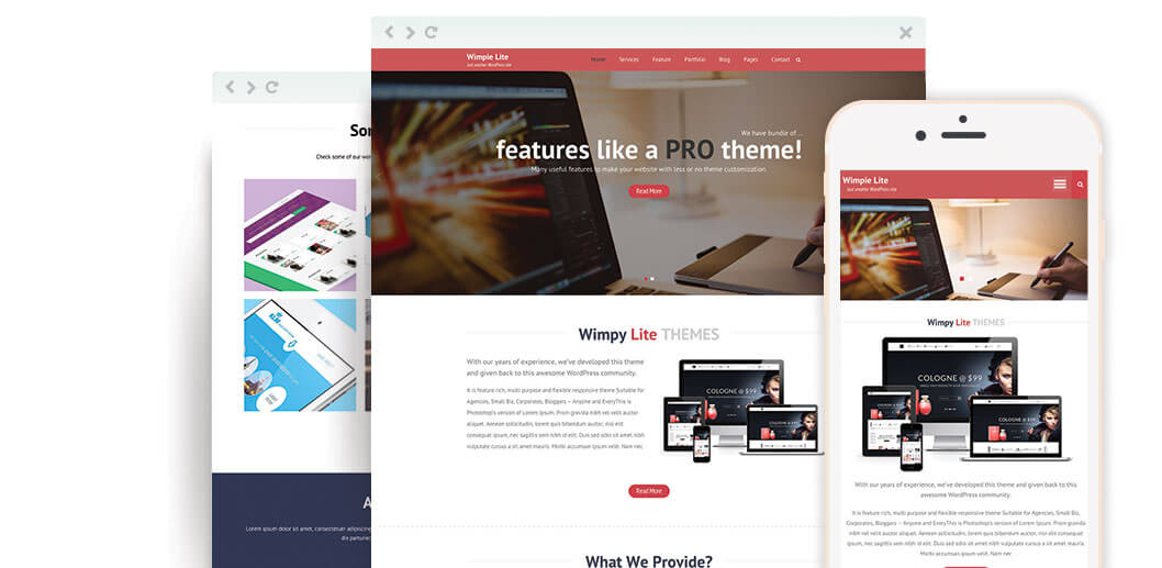 Wimpie Lite – Free Responsive WordPress Business Theme
