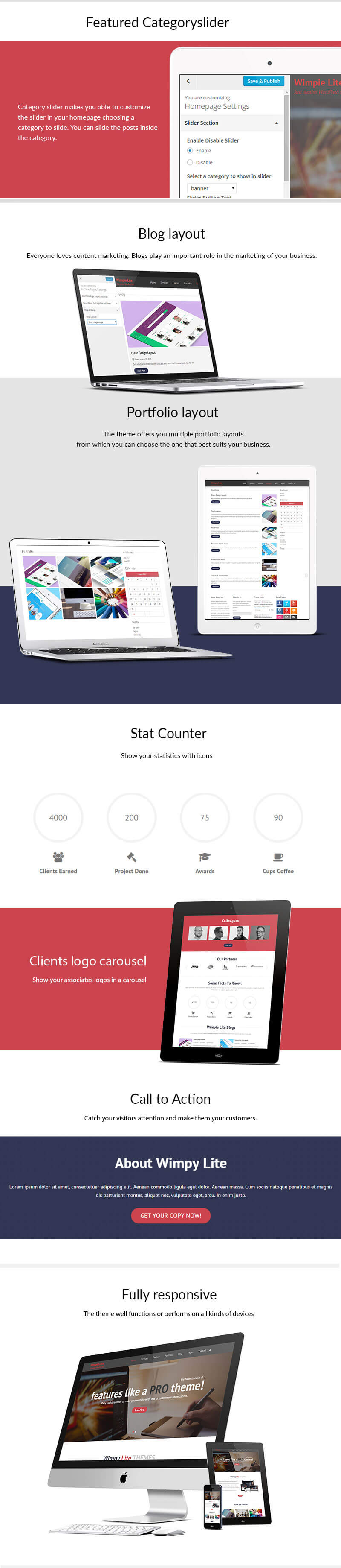 Wimpie Lite – Free Responsive WordPress Business Theme