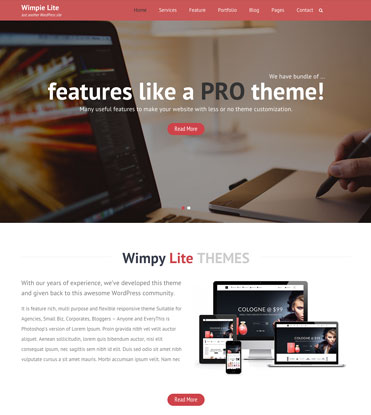 Wimpie Lite - Free Responsive WordPress Business Theme