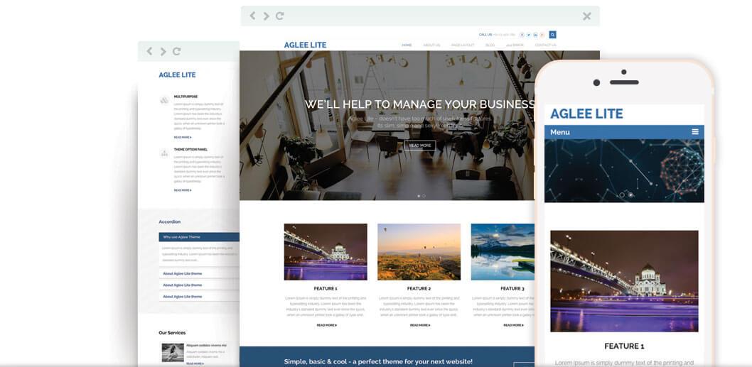 Aglee Lite – Best Free Responsive Business WordPress Theme