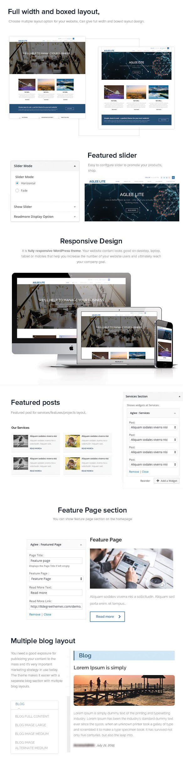 Aglee Lite – Best Free Responsive Business WordPress Theme