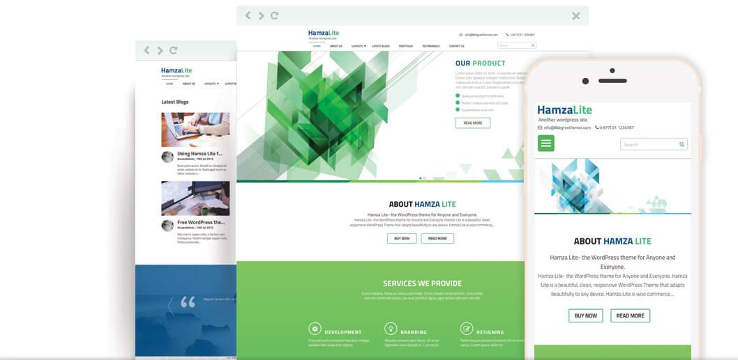 Hamza Lite – Free Business WordPress Theme
