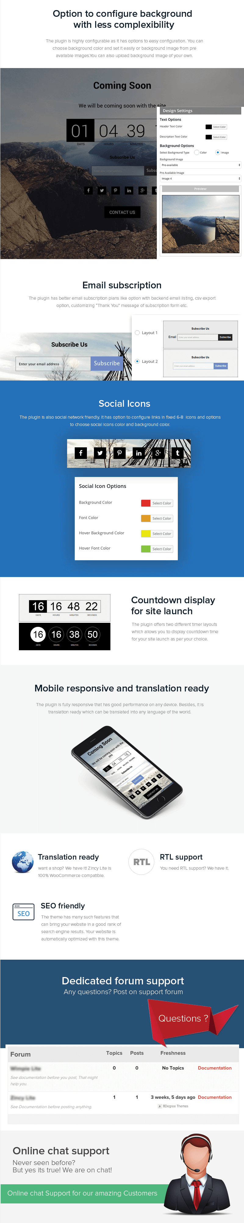 8 Degree Coming Soon – FREE Maintenance Mode WP Plugin