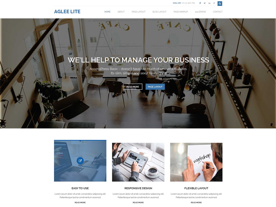 Aglee Lite- A Basic WordPress Theme for Free