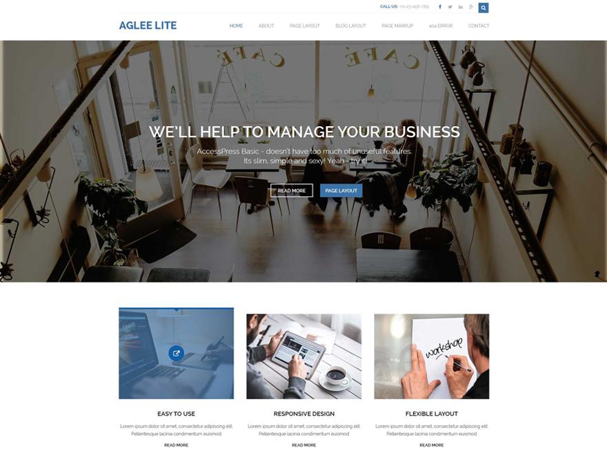Aglee Lite- A Basic WordPress Theme for Free