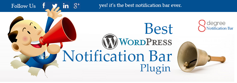 Best WordPress notification bar Plugin- 8Degree Notification Bar