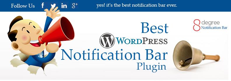 Best WordPress notification bar Plugin- 8Degree Notification Bar