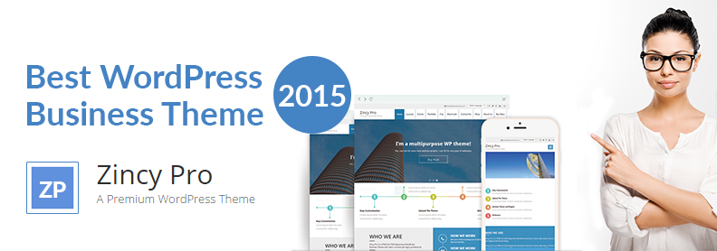 Best WordPress Business Theme for 2015- Zincy Pro