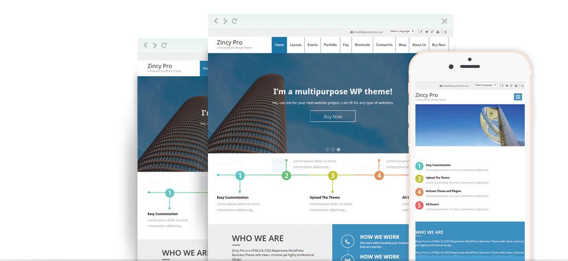 Zincy Pro – Premium Multipurpose WordPress Theme