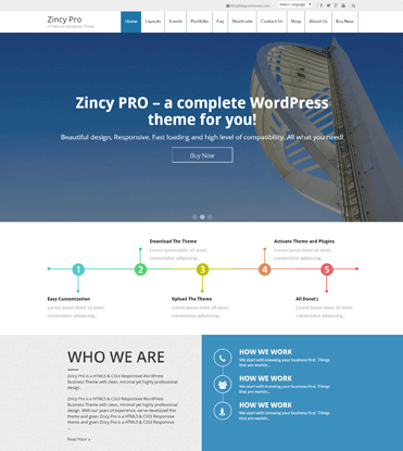 Zincy Pro - Premium Multipurpose WordPress Theme