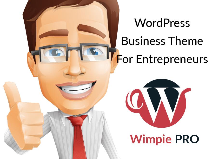 WordPress Business Theme for Entrepreneurs- Wimpie Pro