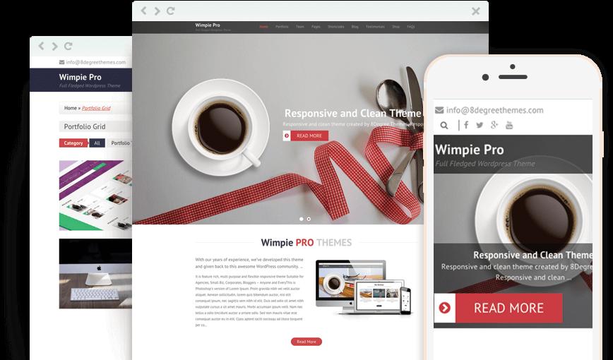 Wimpie Pro – Premium Responsive WordPress Business Theme