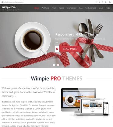 Wimpie Pro - Premium Responsive WordPress Business Theme