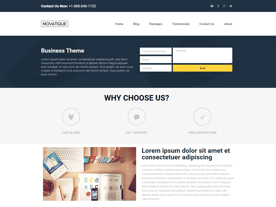 21+ Best Free Business WordPress Themes 2018