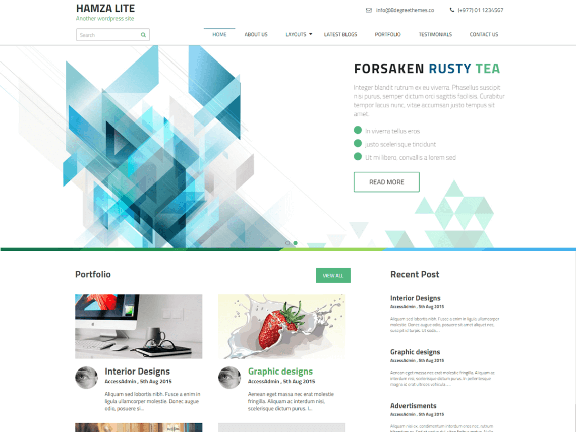 21 best free business wordpress themes 2018 hamza lite pronofoot35fo Gallery