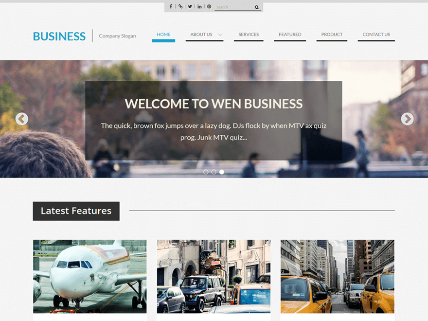 21 best free business wordpress themes 2018 wen business flashek Images