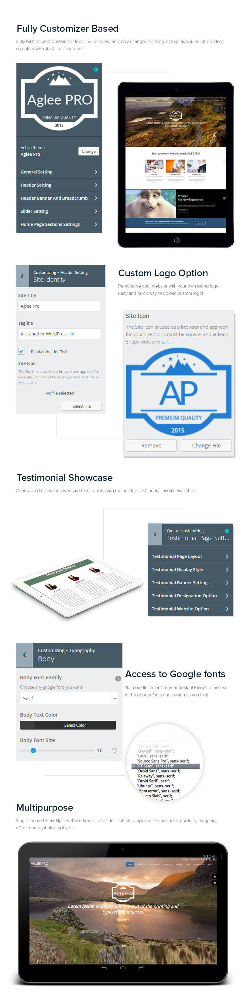 Aglee Pro – Best Premium Responsive Business WordPress Theme