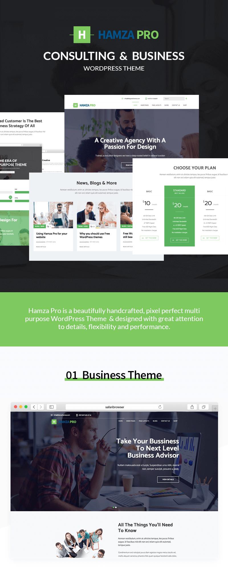 Hamza Pro – Premium Business WordPress Theme