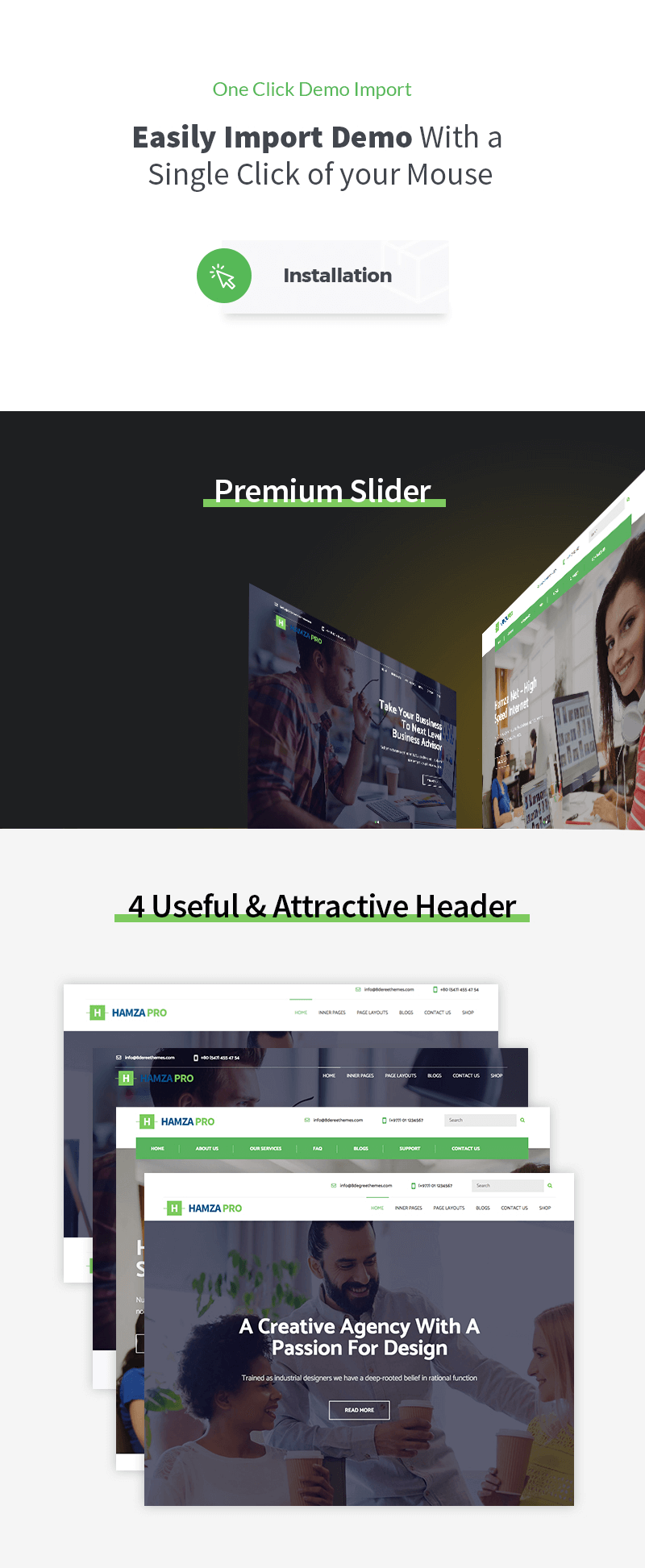 Hamza Pro – Premium Business WordPress Theme
