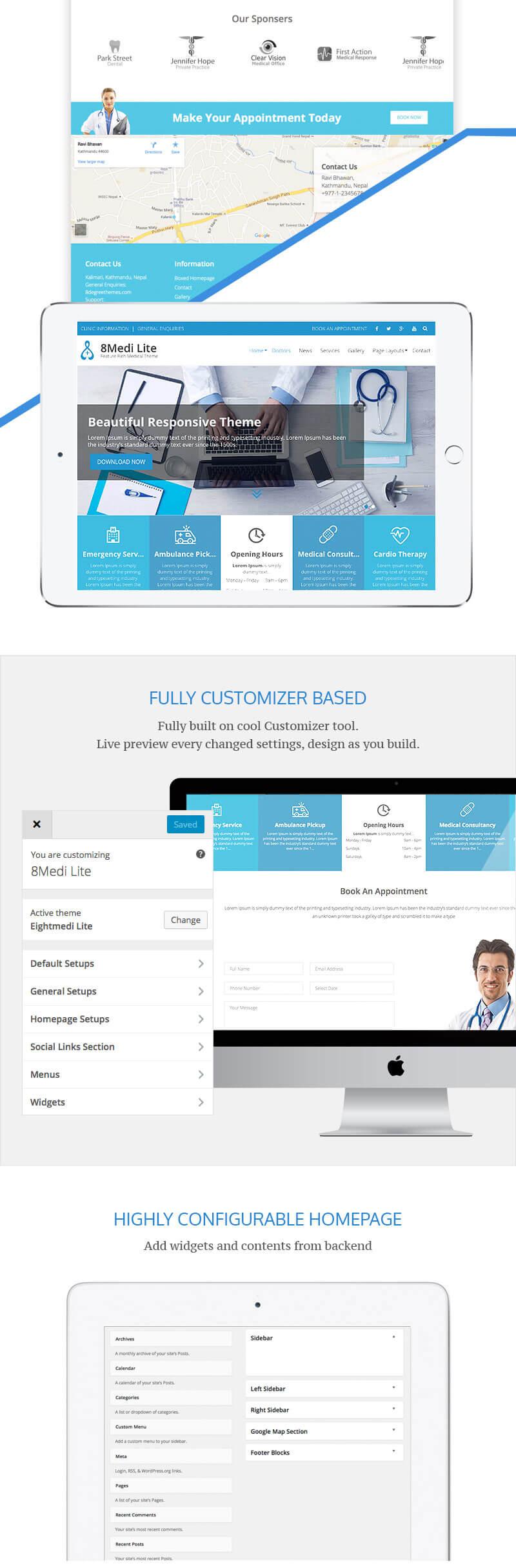 EightMedi Lite – Best Free Medical & Healthcare WordPress Theme