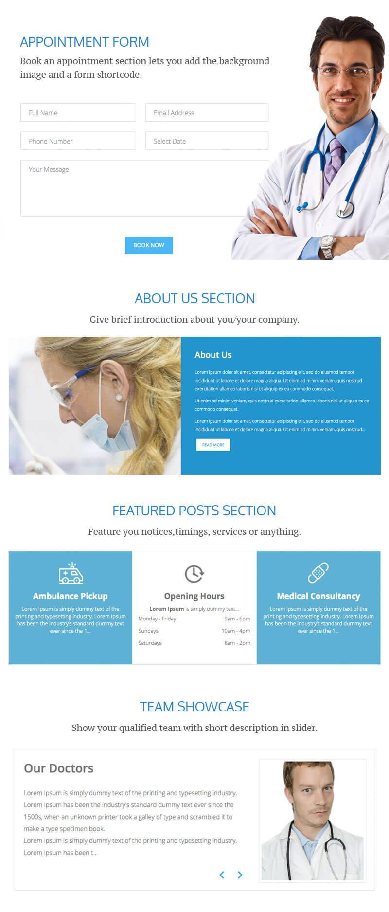 EightMedi Lite – Best Free Medical & Healthcare WordPress Theme