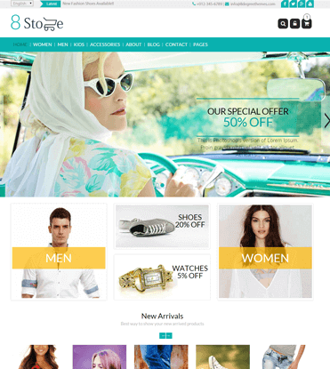 EightStore Lite - Best Free WooCommerce, eCommerce and Store WordPress Theme