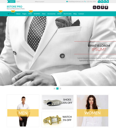 EightStore Pro - Best Premium WooCommerce, eCommerce and Store WordPress Theme