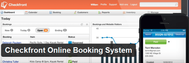 Checkfront and Checkfront WordPress Booking plugin