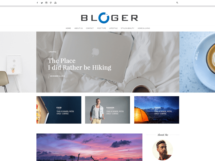 Bloger Pro - Best Premium News Magazine WordPress Themes