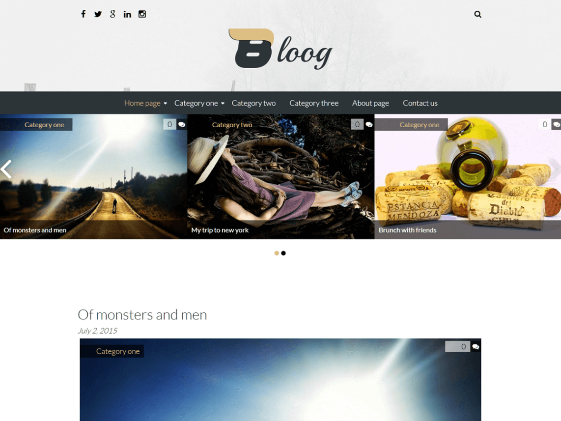 bloog-lite WordPress themes free download responsive for blog
