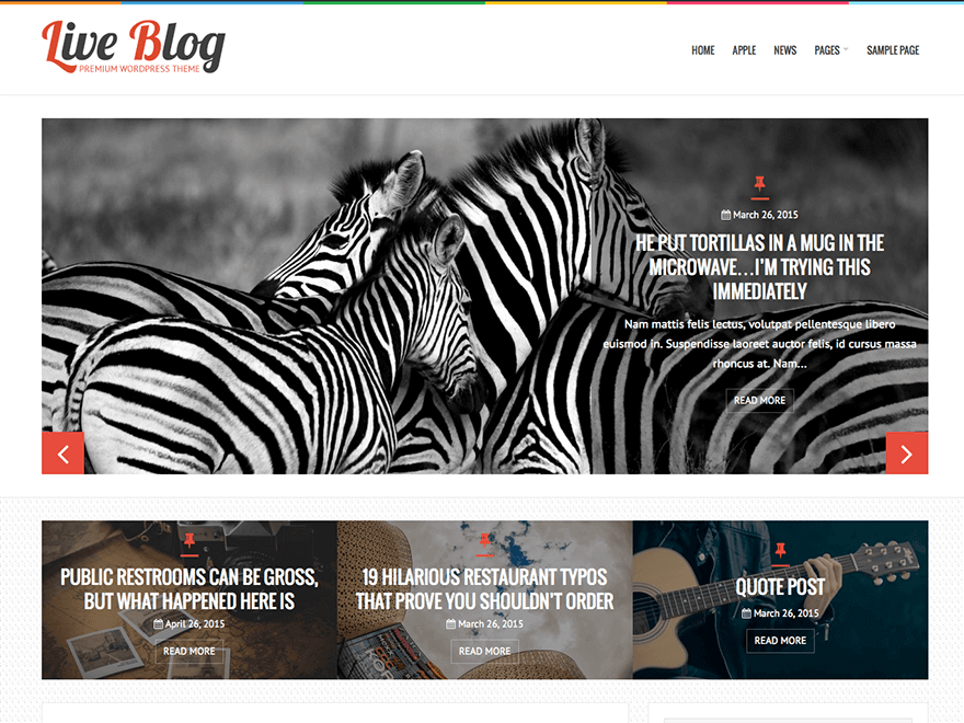 liveblog WordPress themes free download responsive for blog
