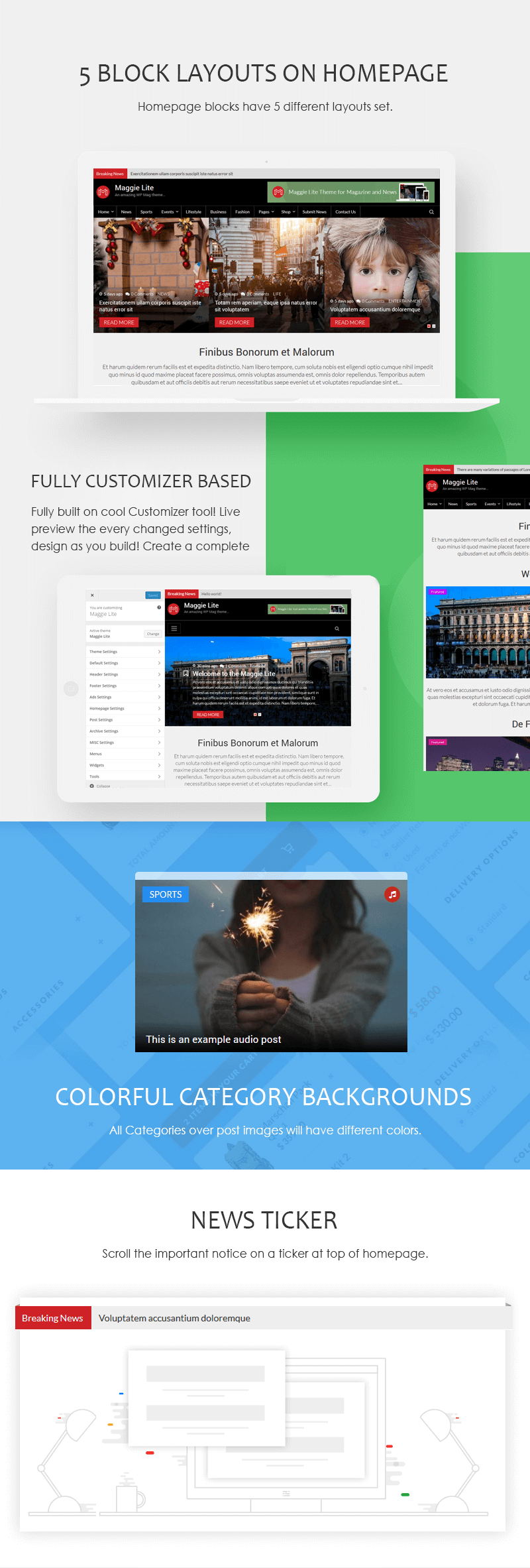 Maggie Lite – Free WordPress Magazine & Newspaper Theme