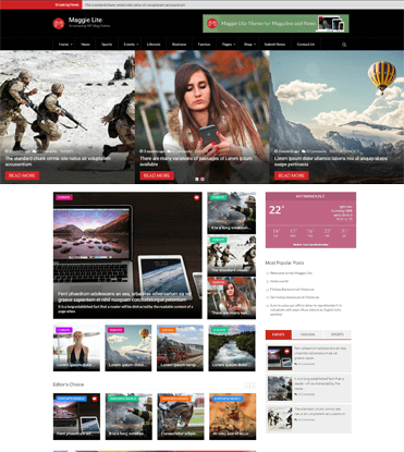 Maggie Lite - Free WordPress Magazine & Newspaper Theme