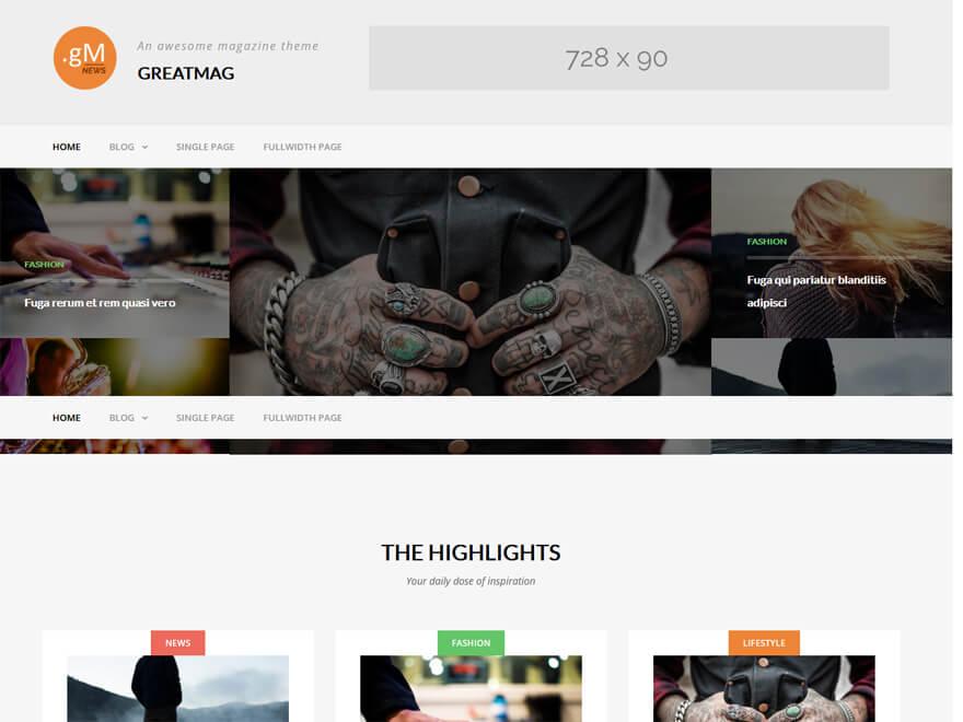 GreatMag - Free WordPress Blog Themes