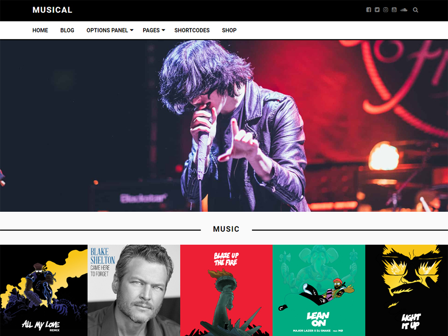 Musical - Free WordPress Blog Theme