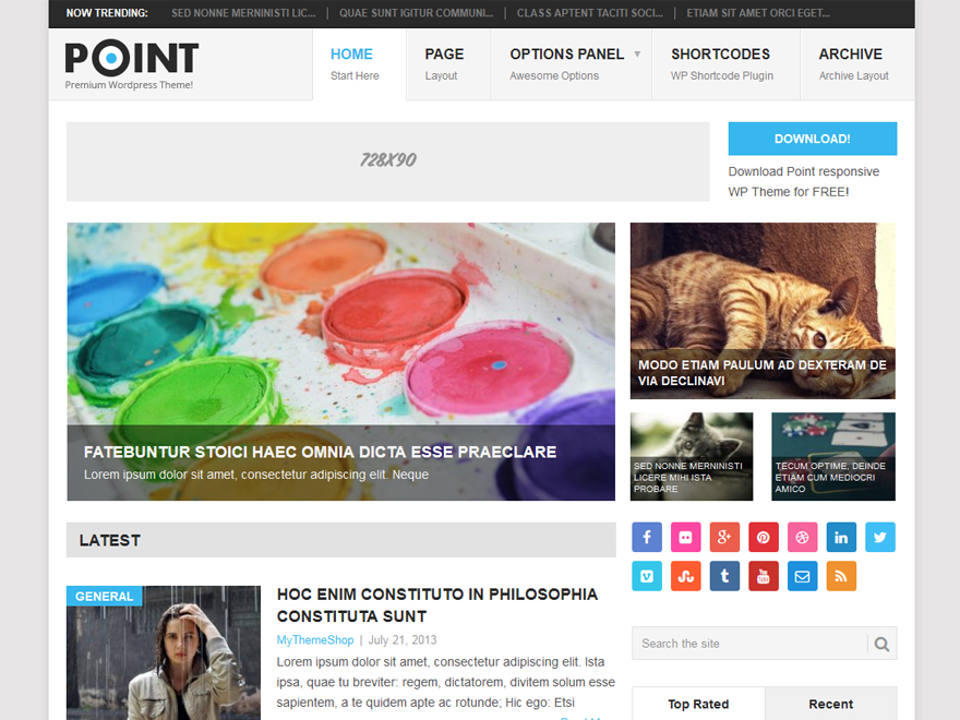 Point - Free WordPress Blog Theme