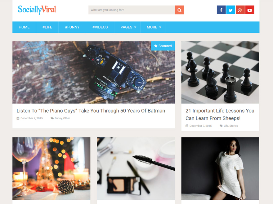 Socially Viral Free WordPress Blog Theme