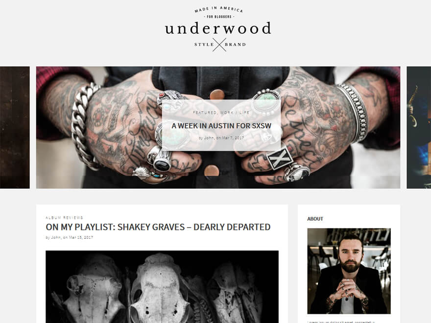 Underwood - Free WordPress Blog Themes