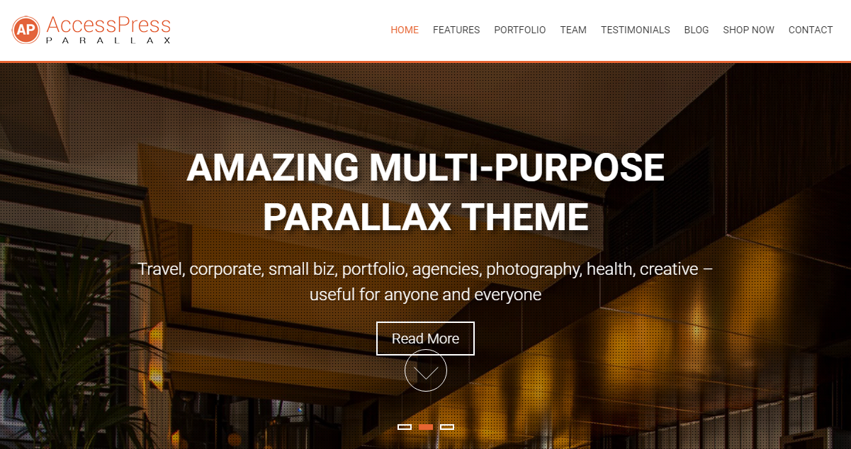 AccessPress Parallax - Best Free Business WordPress Theme