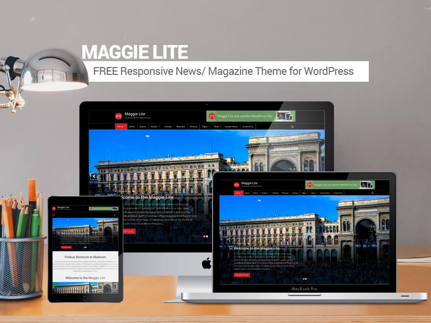 Maggie Lite: Best Free Magazine WordPress Theme for 2017