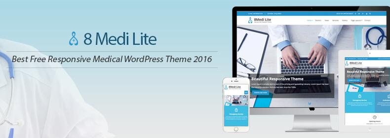 EightMedi Lite: Best Free Responsive Medical WordPress Theme 2020