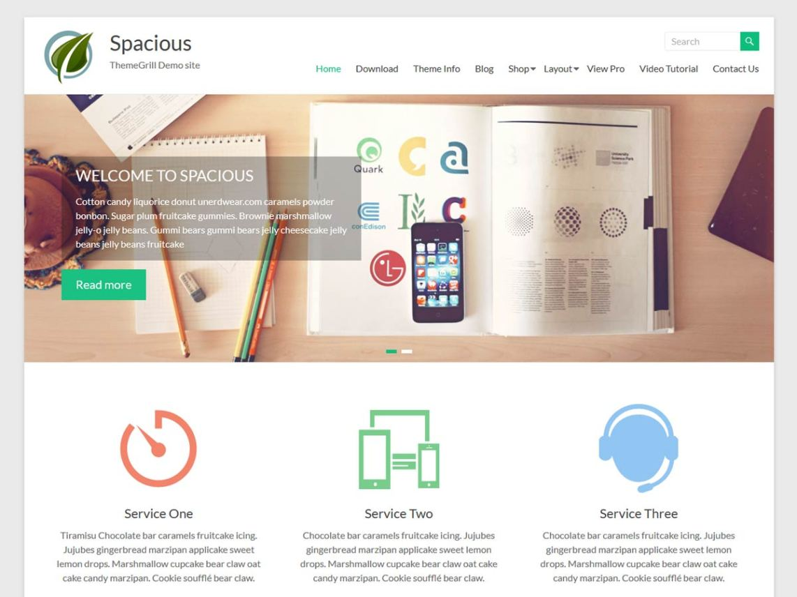 spacious free business wordpress theme