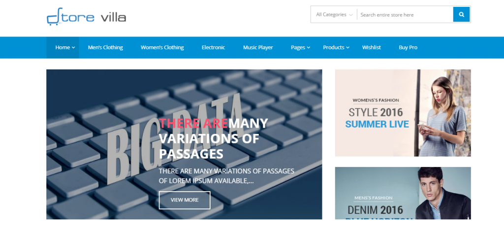 StoreVilla - Best Free ECommerce WordPress Theme