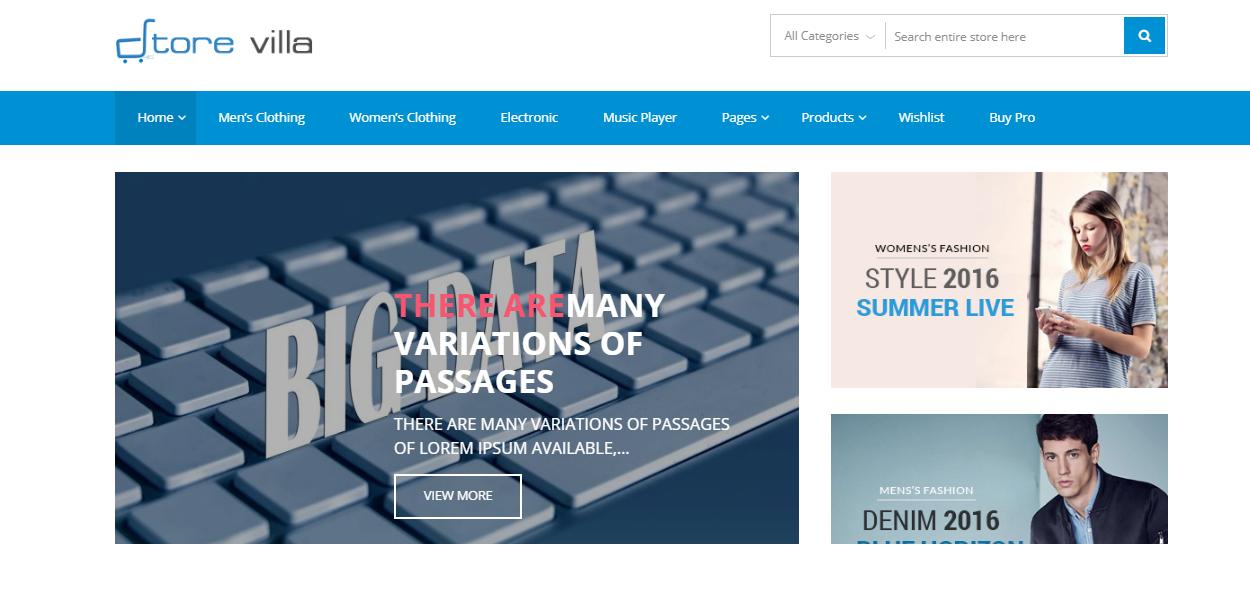 StoreVilla - Best Free ECommerce WordPress Theme