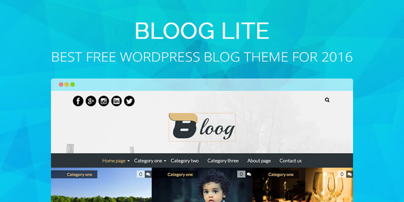 Bloog Lite: Best Free WordPress Blog Theme