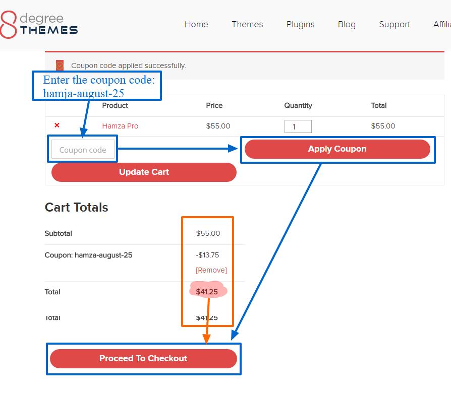 Hamza Pro discount use
