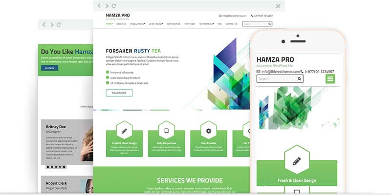 Responsive WP theme Hamza Pro